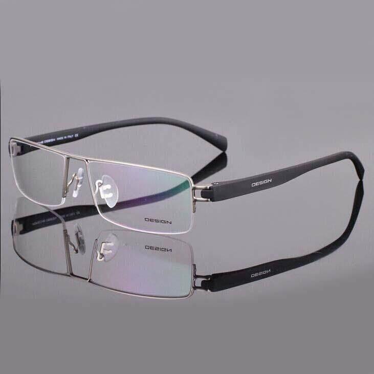Fashion แว่นตา รุ่น Portable 9034 กรอบแว่นตา Eyeglass Frame ( สำหรับตัดเลนส์ ) ทรงสปอร์ต วัสดุ สแตนเลสสตีล หรือเหล็กกล้าไร้สนิม Stainless Steel ขาข้อต่อ Spectacles Eyeweartop Glasses.