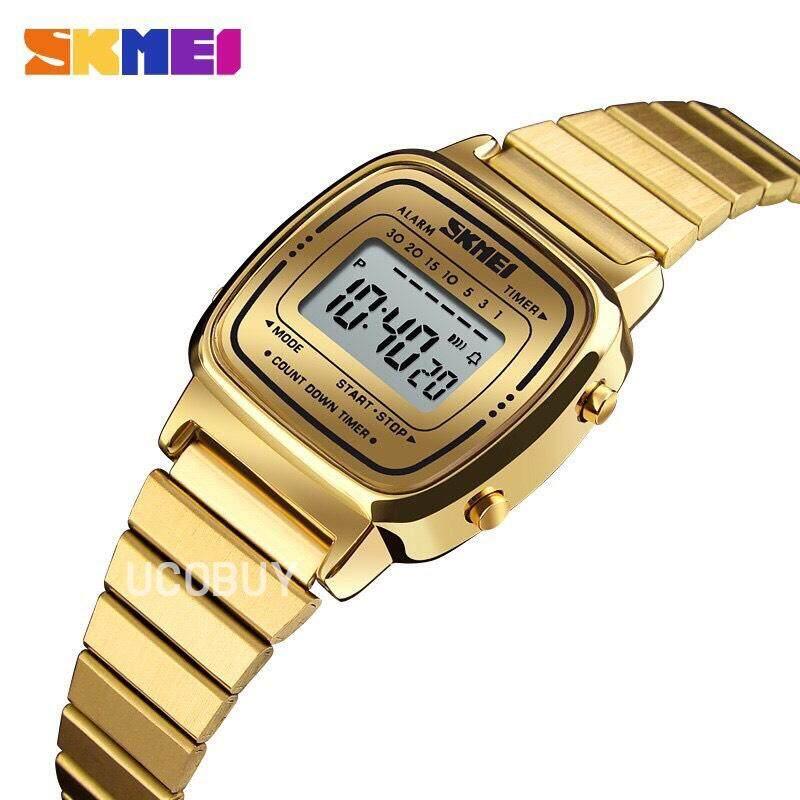 นาฬิกา Skmei รุ่นใหม่มาแรง ลดราคาพิเศษ แบรนด์ดัง งานแท้ 100%  รุ่น Sk08 แถมฟรี!! กล่องเหล็ก.