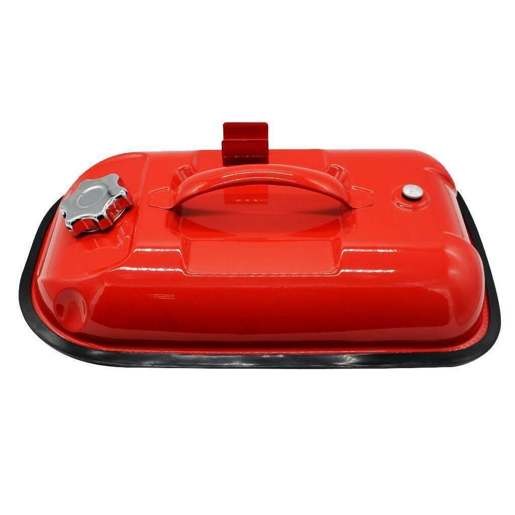 ถังน้ำมัน ถังใส่น้ำมัน แกลลอนน้ำมัน ถังน้ำมันสำรอง Fuel Tank เหล็ก สีแดง ขนาด 5l.