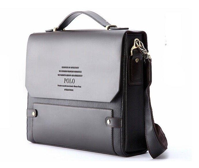 Laptop Bag Travel Men Videng Polo Leather Briefcases Shoulder Messenger Business