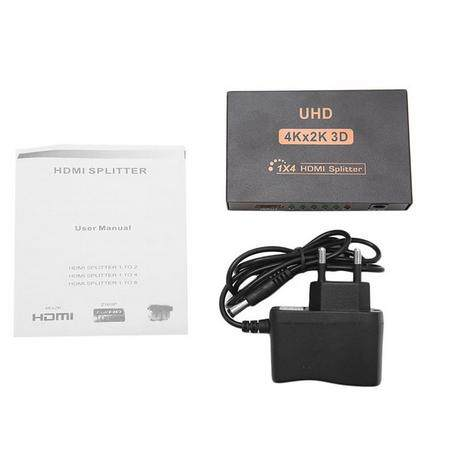 Ultra Hd 4k 4 พอร์ท Hdmi Splitter ตัวขยายสัญญาณเสียง 1 แชนแนล 1080p 3d Hub 1 ใน 4 แชนแนล.
