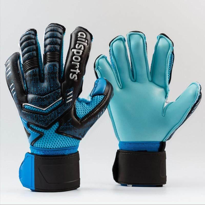 ผู้ชายมืออาชีพผู้รักษาประตูฟุตบอลถุงมือป้องกันนิ้วมือที่แข็งแกร่ง Latex เด็กถุงมือเป้าหมาย Keeper.