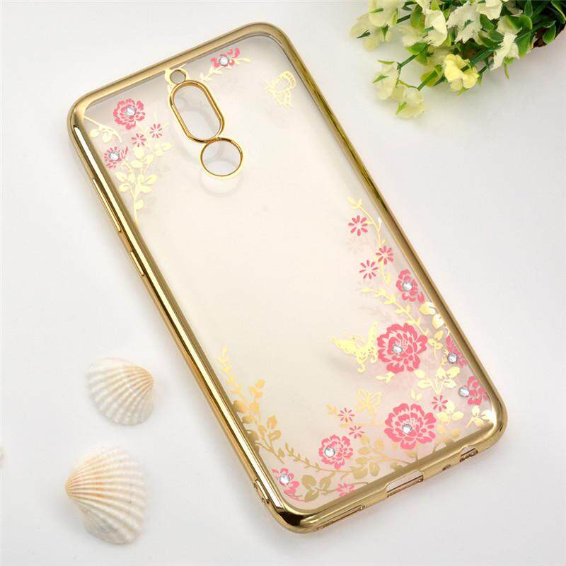 1 Pc/lot Soft TPU Flower Diamond Lace Gold Plating Secret Garden Case For Huawei