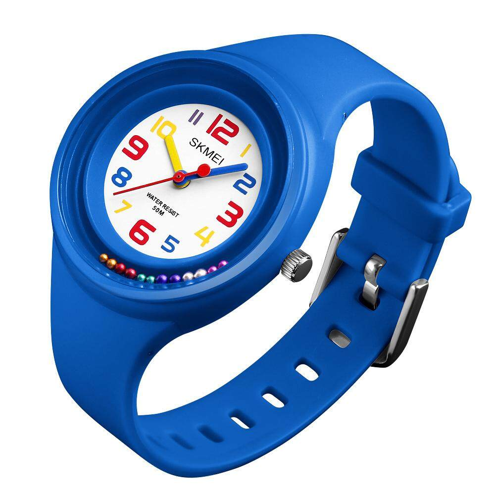 SKMEI 1386 Fashion Rotating Beads Children Watches 50M Waterproof Quartz Wristwatches Kids Hours Boys Girls Students