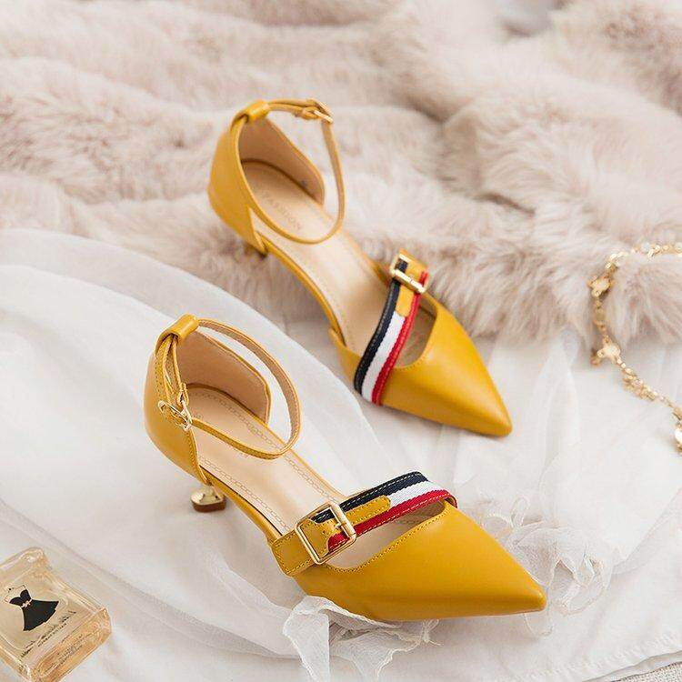 Women Korean Style Ankle Strap Heels By Taobao Collection.