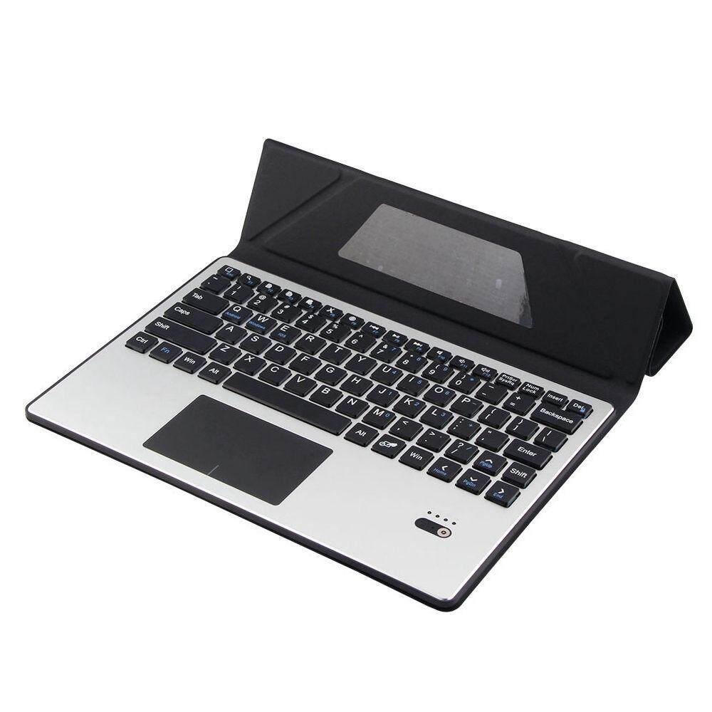 Untuk ASUS ZenPad 3S 10 Z500M Removable Bluetooth Touchpad Rusia / Spanyol Keyboard + Folio PU Leather Case Pelindung Berdiri Tutup