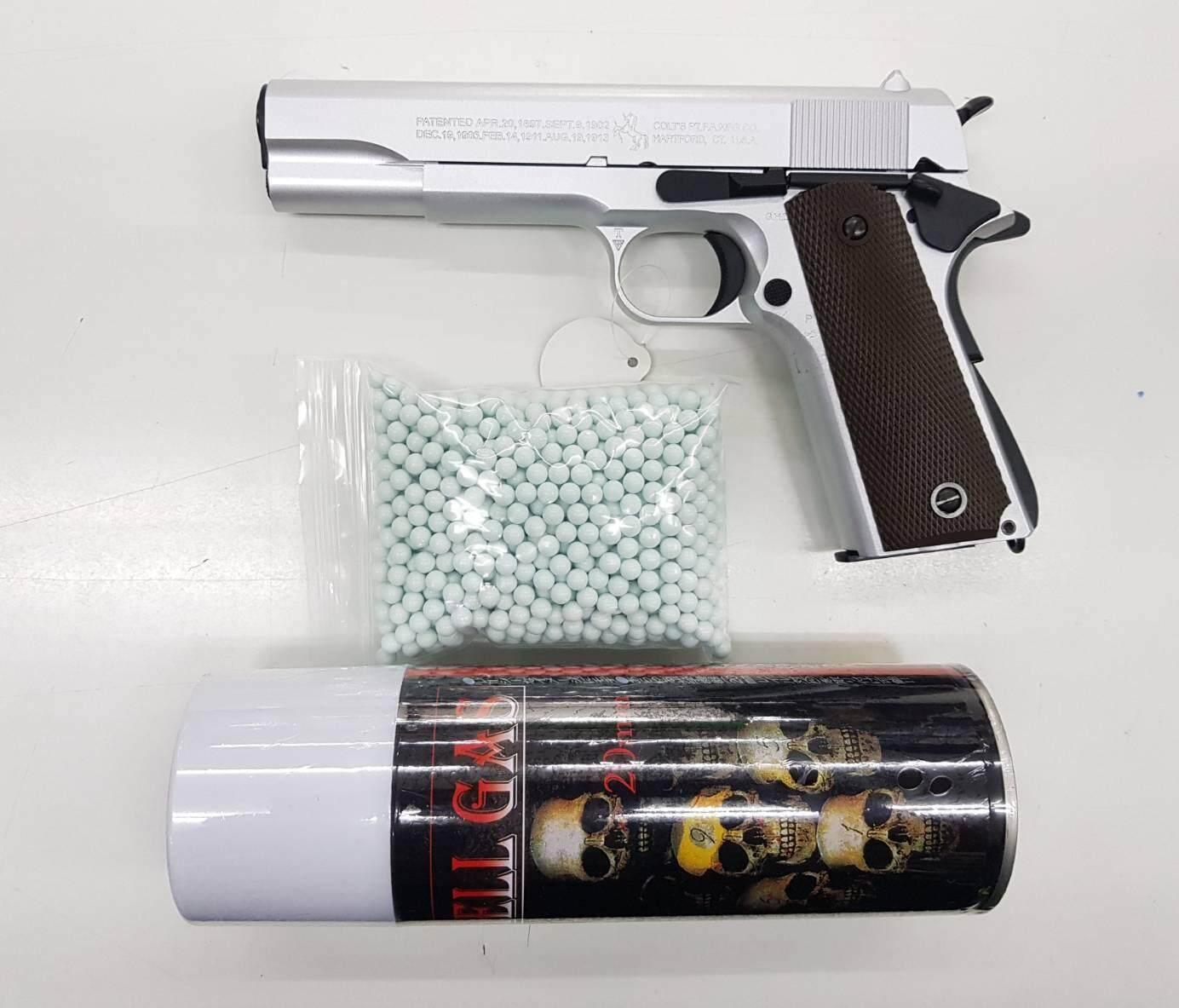 ปืนบีบีกัน Army_r31 Silver แถมแก๊ส 1 กระป๋อง + ลูกกระสุน 1000 นัด.