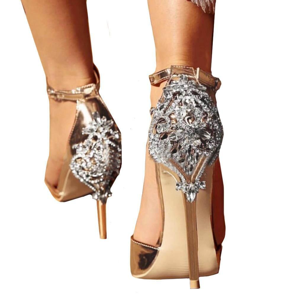 Teresastore SUMMER Fashion Luxury Diamond High Heel Womens Sandals Party  Wedding Heels 9160c56b5251