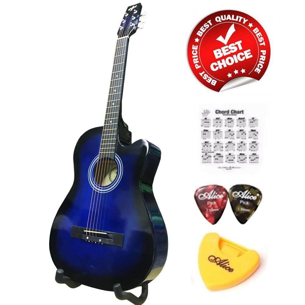 ขาย At First กีตาร์โปร่ง Acoustic Guitar 38 รุ่น Ag 38Bls ลูกบิดเหล็กโครเมี่ยม ปิ๊กกีตาร์ 2 อัน ที่เก็บปิ๊กกีตาร์ ตารางคอร์ด ผู้ค้าส่ง