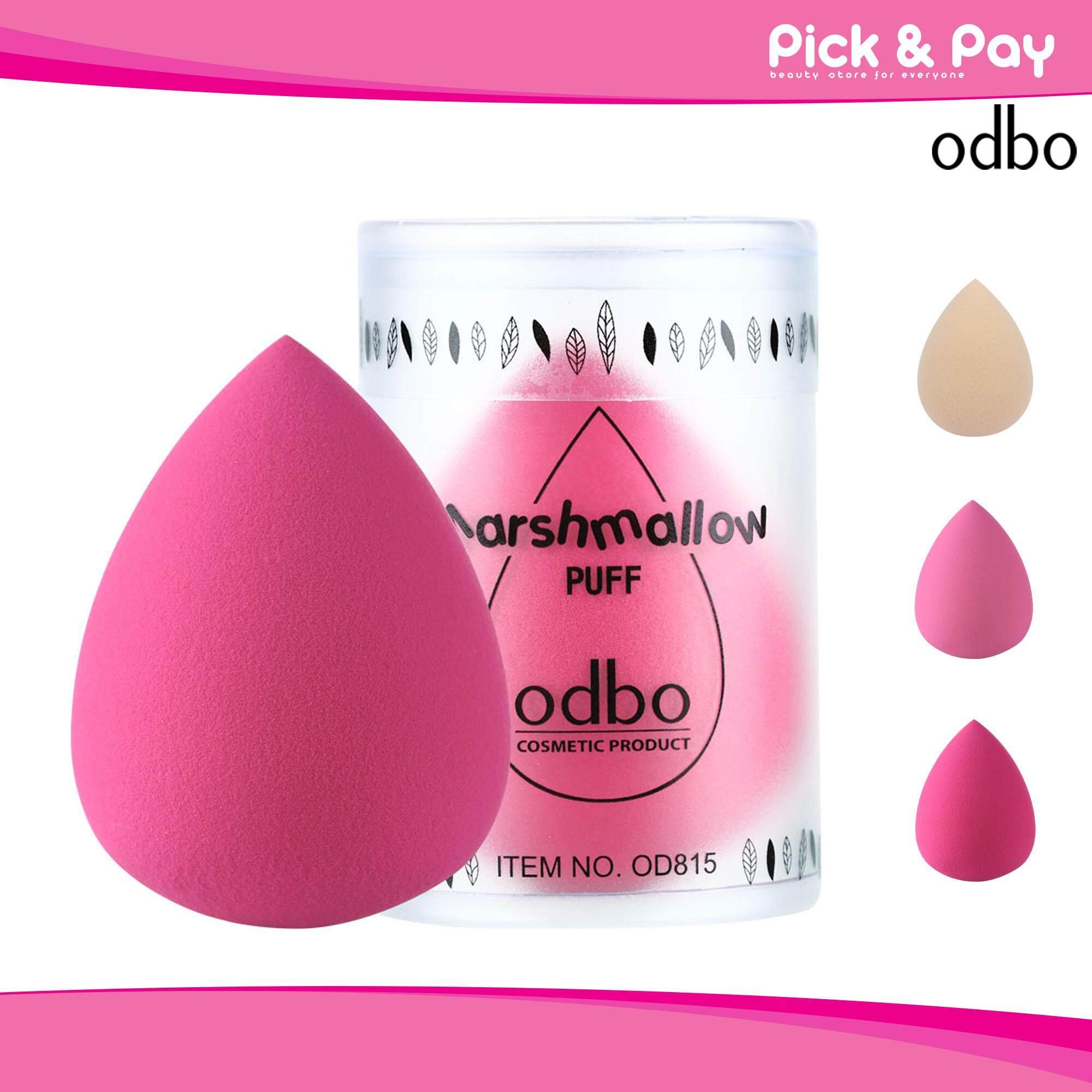 Odbo Marshmallow Puff มาสเมลโลว์ พัฟ ฟองน้ำแต่งหน้ารูปไข่ เกลี่ยรองพื้น Od815.