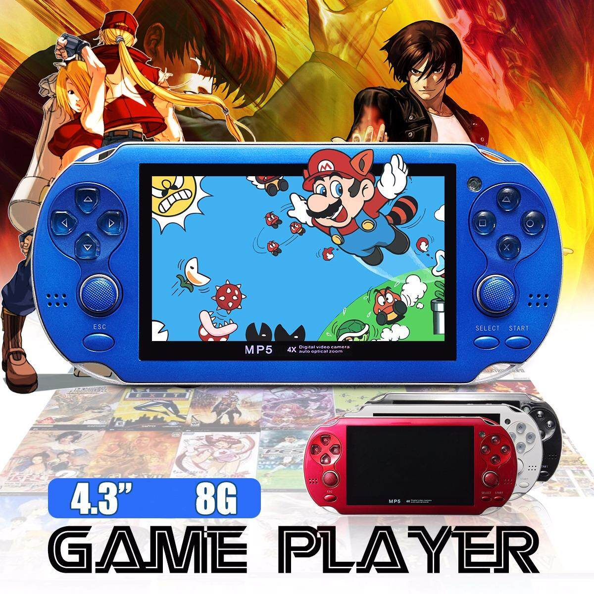 8GB 4.3 Inch Built In 2000 Games Portable Handheld Video Game Console Player US Black - intl