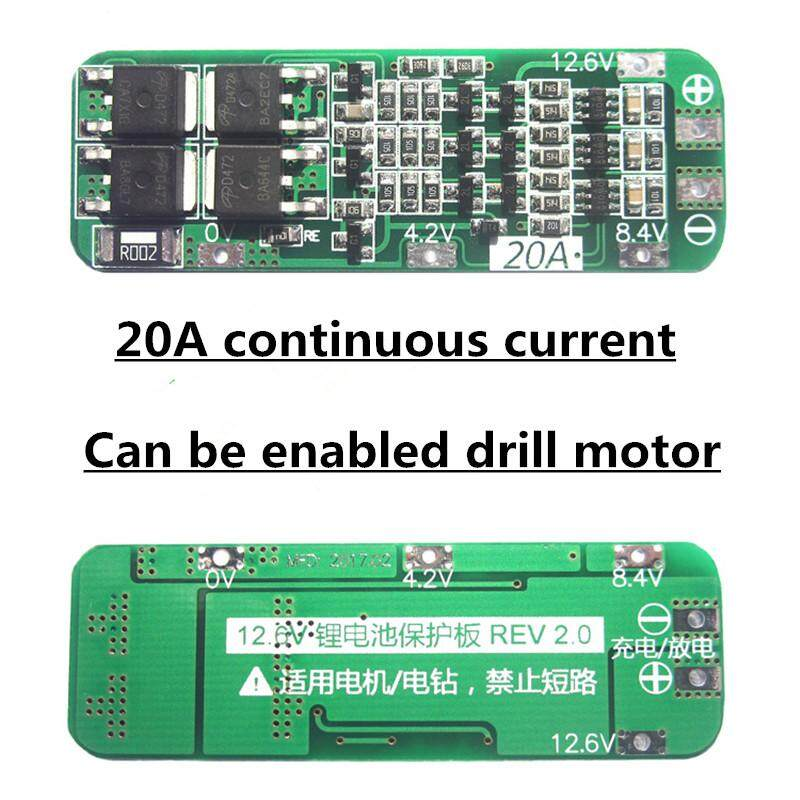 New 3s 20a Li-Ion Lithium Battery 18650 Charger Pcb Bms Protection Board 12.6v Cell Module 64x20x3.4mm.