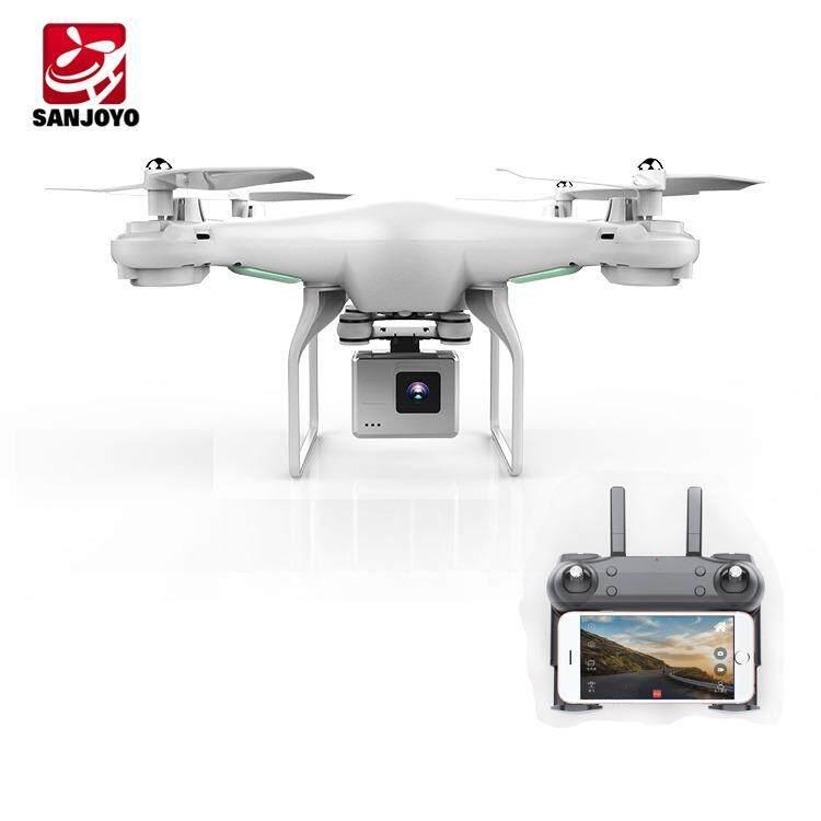 Dm106 โดรน 4ใบพัดติดกล้องความละเอียดสูงhd 720 P กล้อง 2ล้านพิกเซล / กันน้ำ พร้อม Wifi/ Fpv/  ความถี่2.4ghz 4ch 6-Axis Droneพร้อมฟังก์ชั่น /ล๊อคความสูงได้ มี Follow Me Mode /เรียกกลับได้ในปุ่มเดียว บังคับบินขึ้นลงได้ด้วยปุ่มเดียวไม่ต้องขี้นทะเบียน.