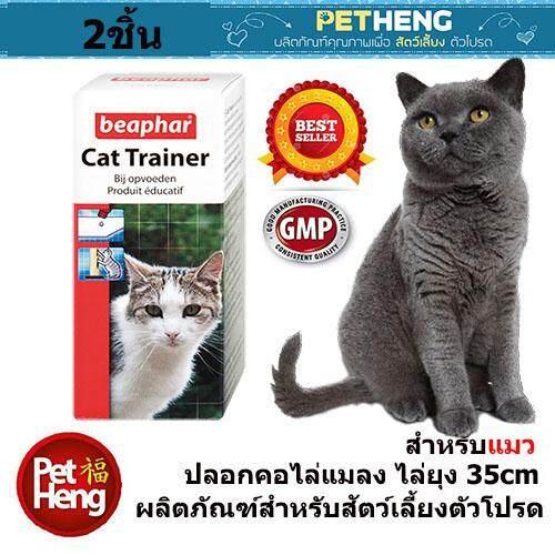Beaphar Cat Trainer น้ำยาฝึกแมว มีกลิ่น Catnip ผ่อนคลาย ช่วยในการฝึกแมว ฝึกลับเล็บ ฯลฯ สำหรับแมวทุกสายพันธุ์ ขนาด 10 มล.x 2 ชิ้น