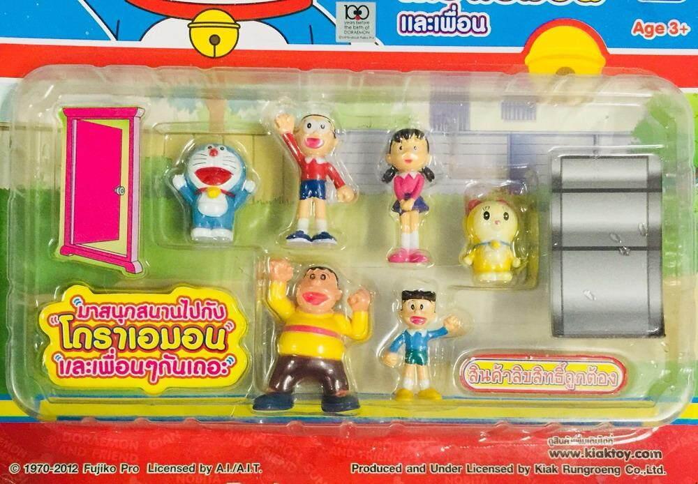 ฟิกเกอร์ โมเดล ตุ๊กตา ของเล่น ของสะสม ชุด โดราเอมอน ครบชุด 6ตัว Figure Model Doraemon Set งานลิขสิทธิ์แท้.