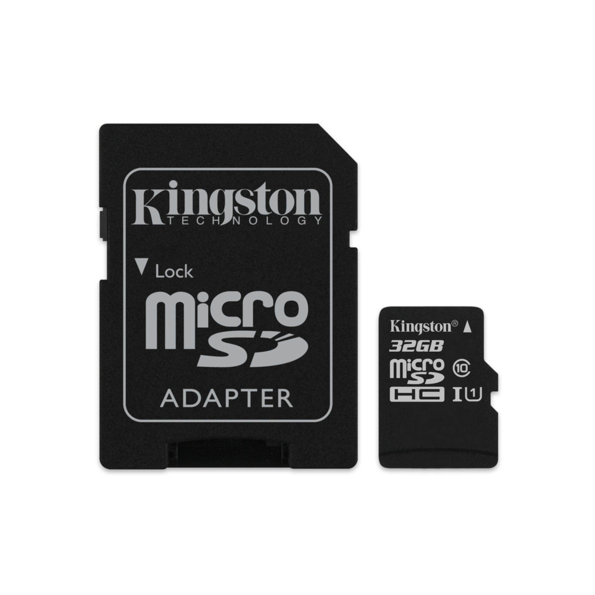 Kingston microSDHC Canvas Select 80R CL10 UHS-I Card + SD Adapter(Compatible, Non-proprietary)