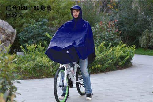 Paradise jas hujan naik Sepeda ponco (Biru tua warna besar jas hujan jas hujan untuk
