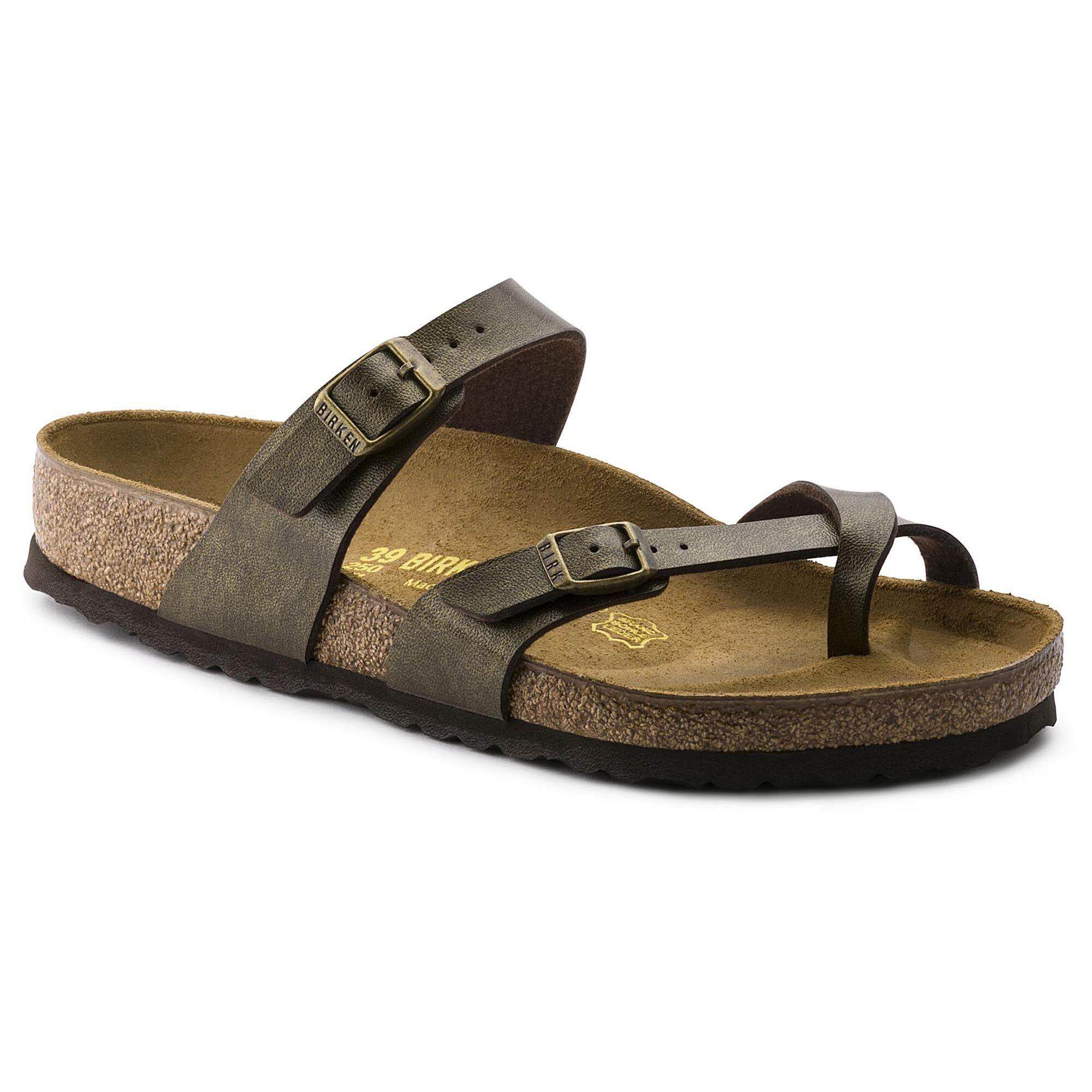 db0ff78453a0f Birkenstocks Women Sandals Women Thong Mayari Birko-Flor Golden Brown