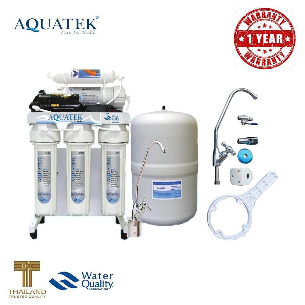 ซื้อ Aquatek Usa เครื่องกรองน้ำ 5 ขั้นตอน ระบบ Ro 50 Gpd รับประกัน 1 ปี ใหม่ล่าสุด
