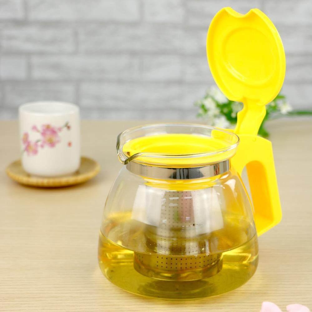 กาชงชาพร้อมที่กรองสีเหลือง