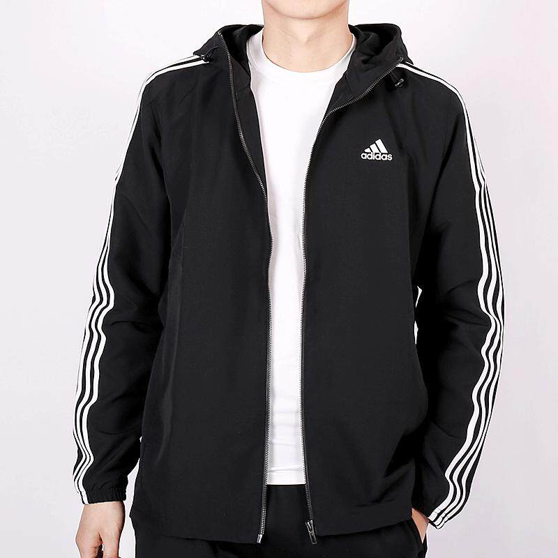 e059a315cea9 Product Adidas 2018 Autumn New Style Men s Sports Jacket Knitted Three  Stripes Hooded Coat BQ6456