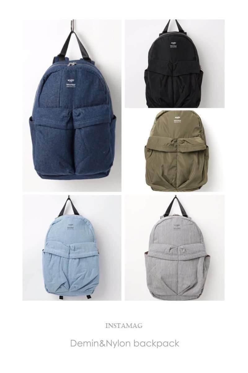 ยี่ห้อไหนดี  แม่ฮ่องสอน New collection !!! Anello Denim& nylon Backpack