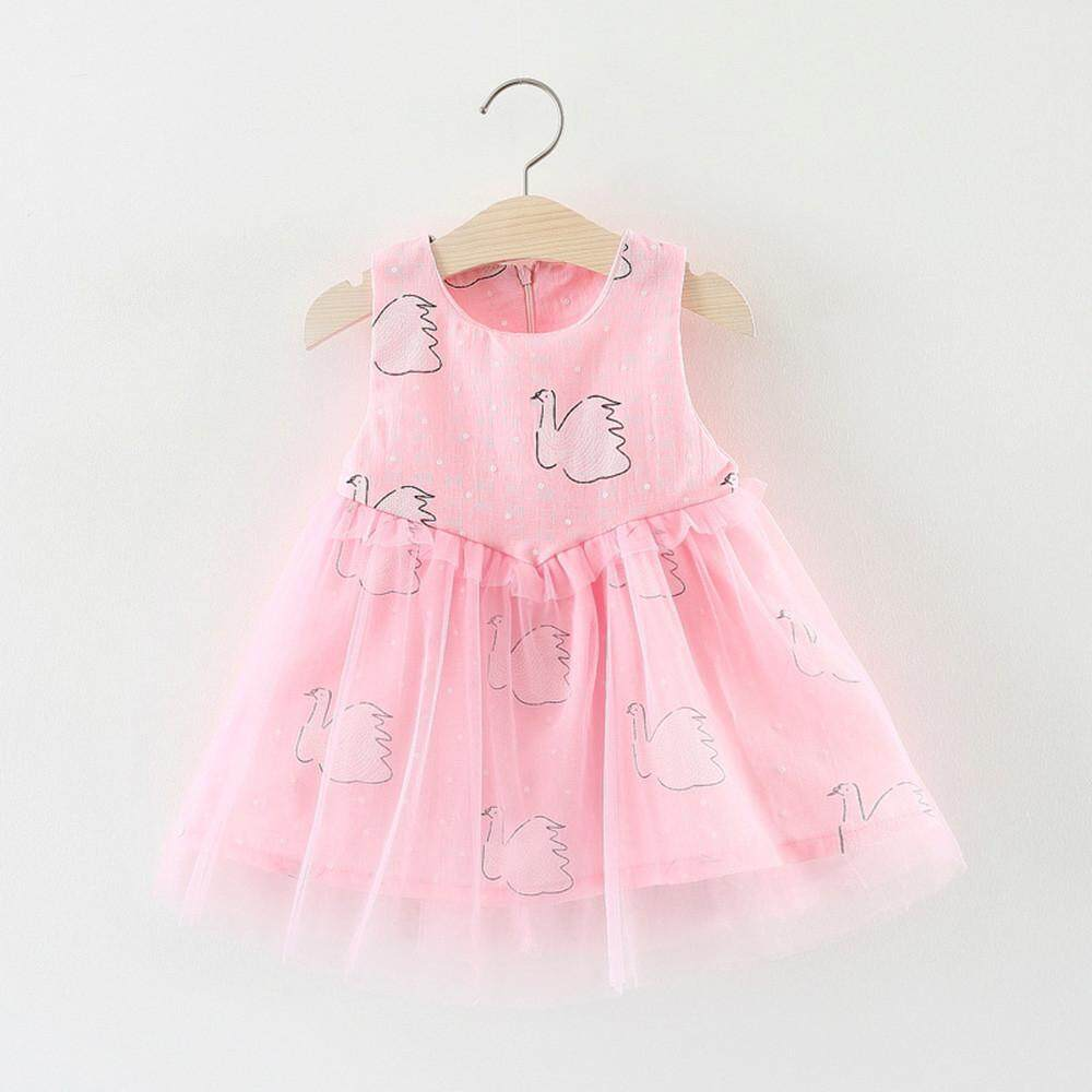 5d4d784a3b72 Lawsonshop Infant Toddler Baby Kids Girls Dress Pageant Swan Printed  Sundress Outfits