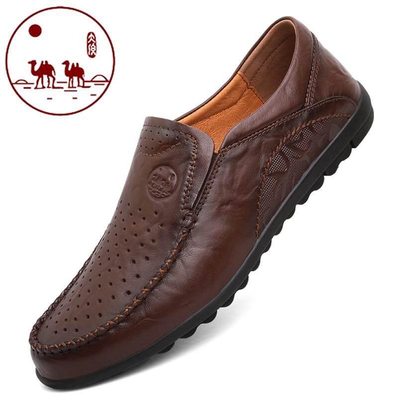Kota Camel sepatu pria Musim Semi Kulit asli bisnis sepatu kulit kasual  kulit berpermukaan lembut Pijakan 6dd28d3801
