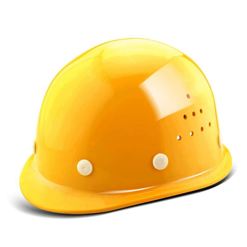 Glass Fiber Reinforced Plastic Safe Cap Construction Site Breathable Construction Leadership Safety Helmet Free Printed Words Architecture Engineering Labor Safety Electric Power