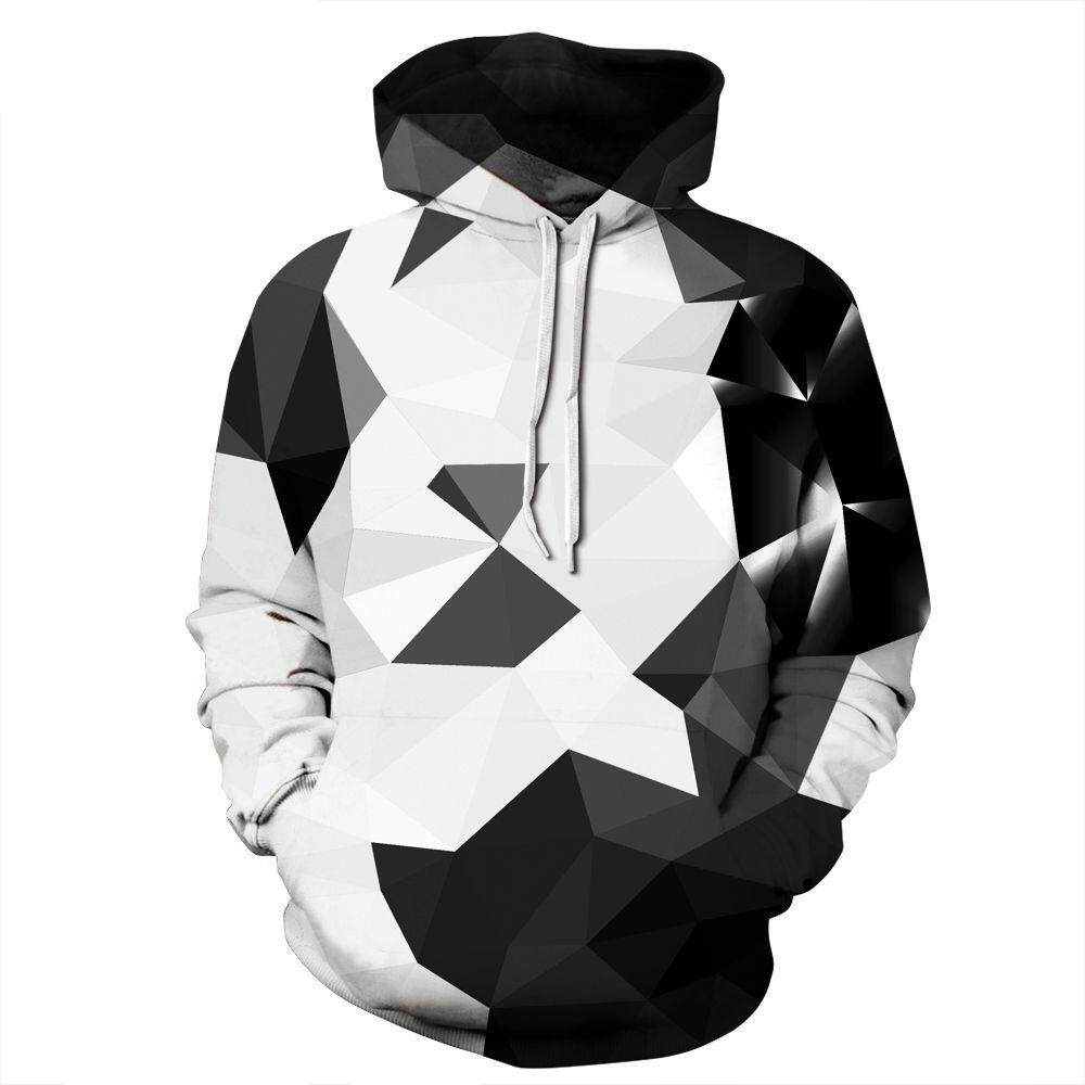 Popular Mens Hoodies For The Best Prices In Malaysia Jaket Hoodie Big Hero 6 Baymax Black And White Geometry Men Women Digital Printing Hooded Pullover Tide Brand Plus Size