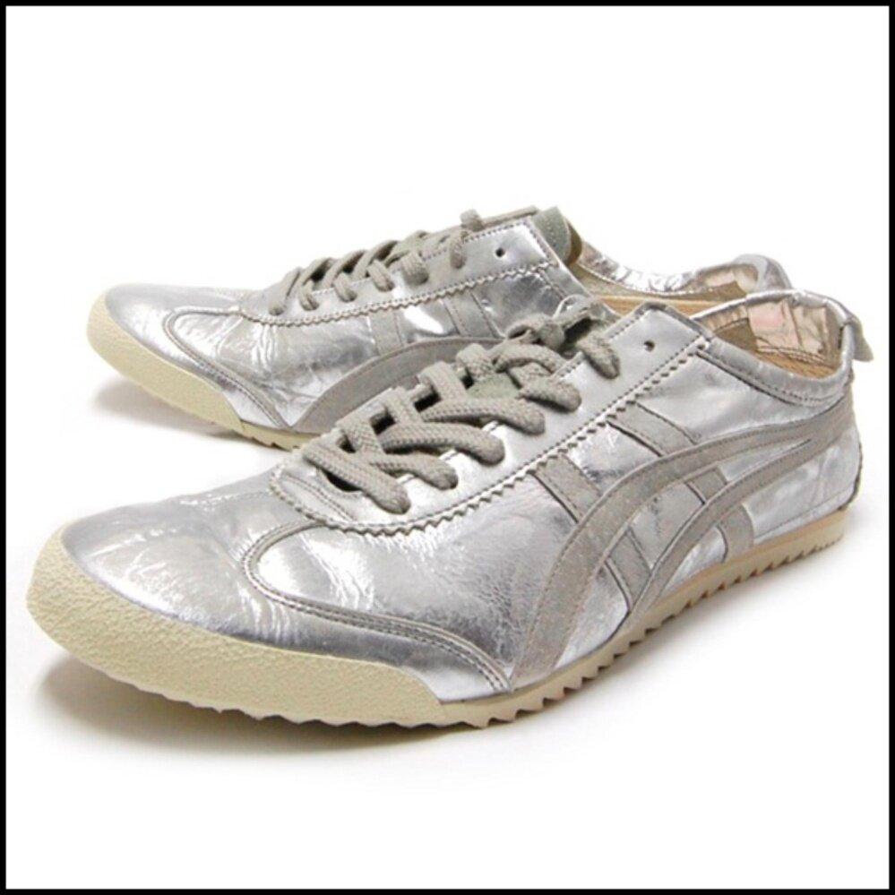 ขาย รองเท้า Onitsuka Tiger Nippon Made Mexico 66 สีเงินล้วน Silver Vintage ถูก