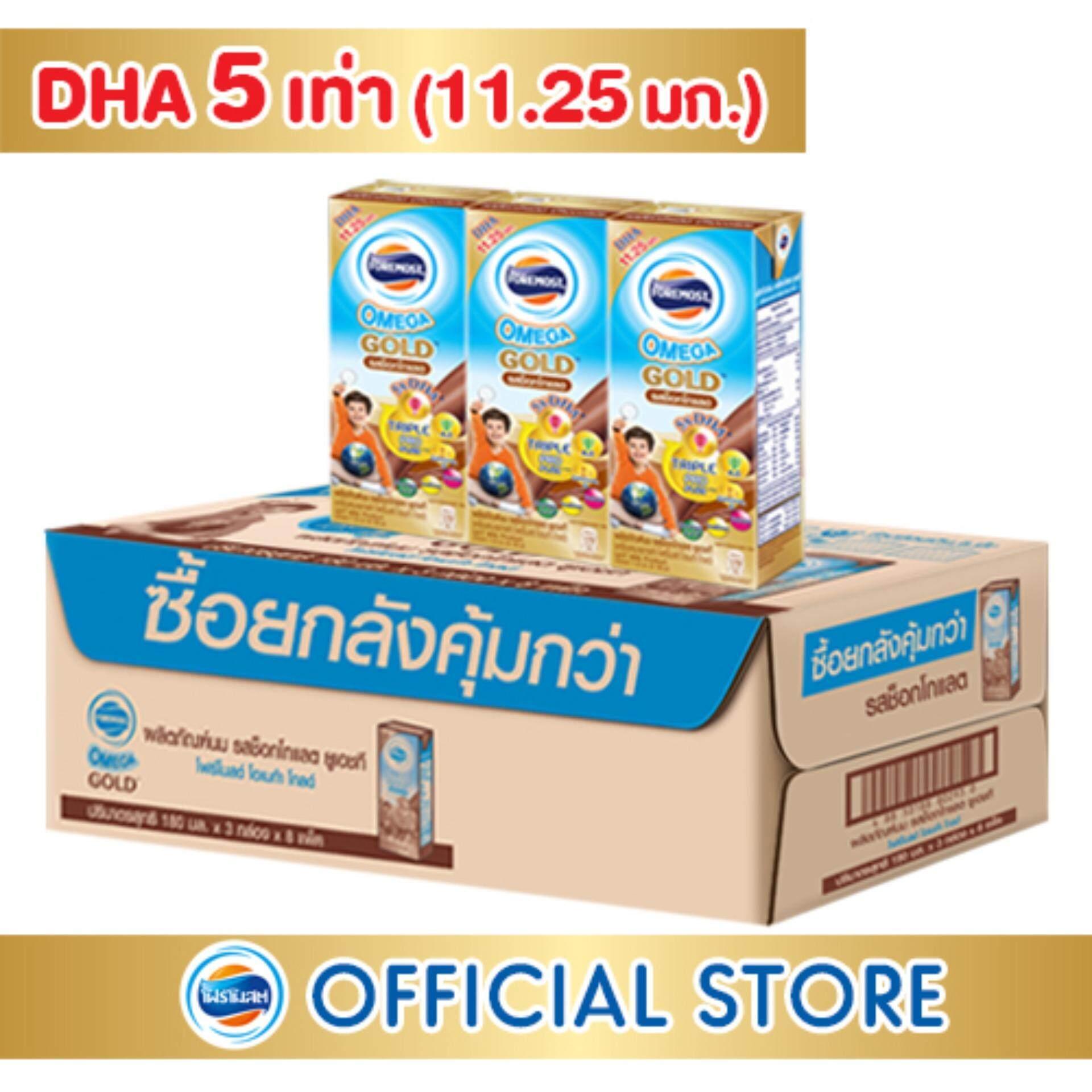 โฟร์โมสต์โอเมก้าโกลด์ รสช็อคโกแลต 180 มล. (24กล่อง/ลัง).