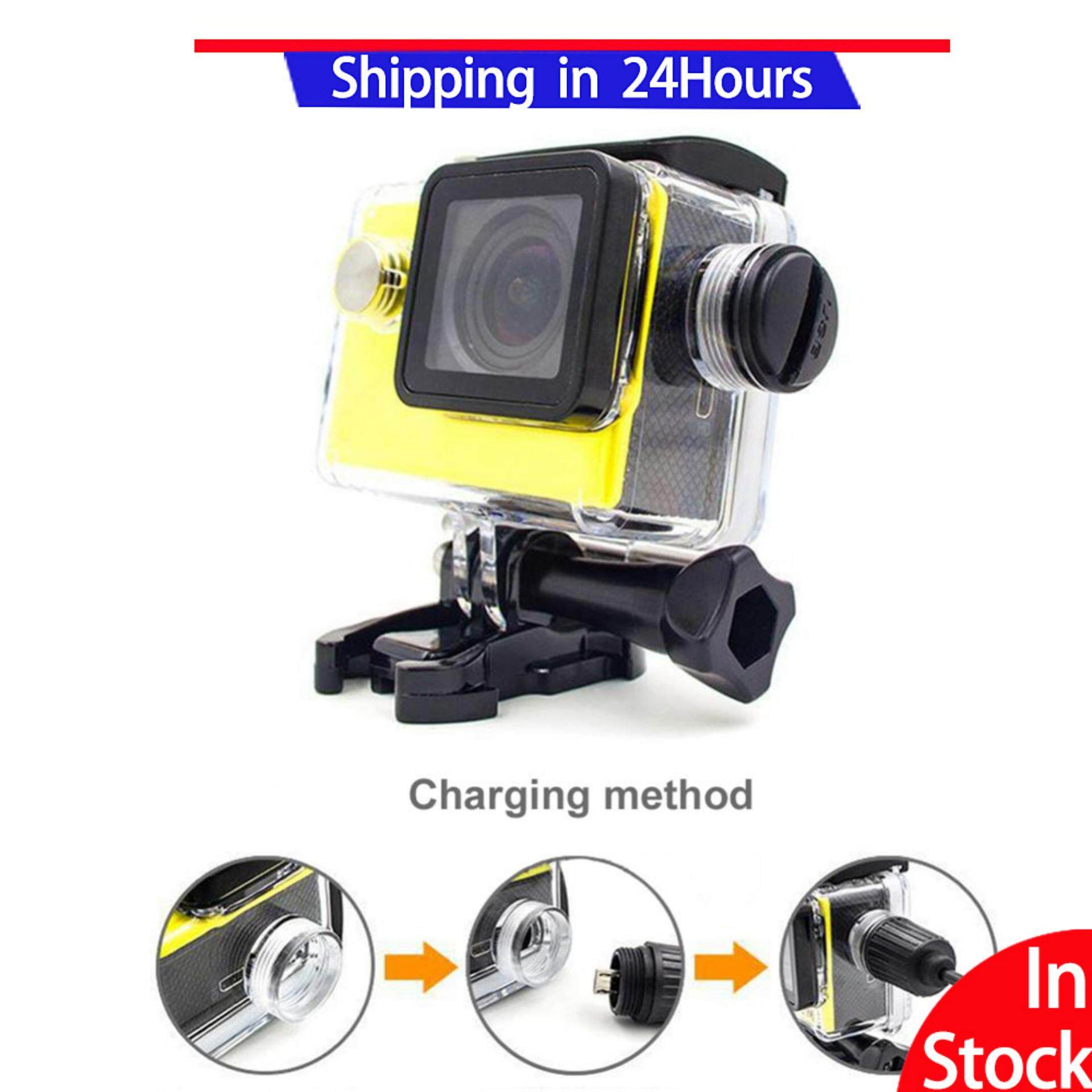 Sweatbuy Sport Camera Waterproof Case Accessories With Charging Cable For Sjcam Sj4000/sj7000 - Intl.