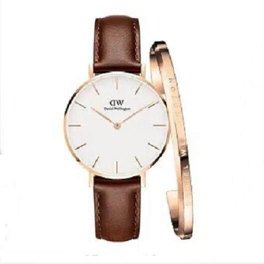 Daniel Wellington ชุดของขวัญคลาสสิก Petite เชฟฟิลด์ 36 มิลลิเมตรนาฬิกากุหลาบทองคลาสสิกข้อมือ(แถมฟรี Dw กำไลข้อมือ ผู้หญิงของขวัญ มูลค่า1190 บาท).