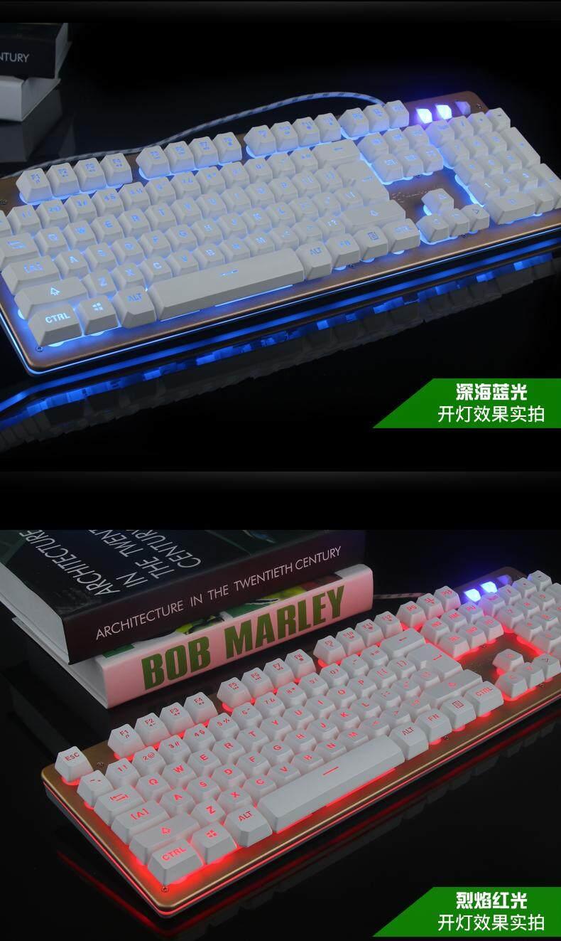 The Kui Salinan Logam USB Di Buku Catatan Bersih Cafe dari Lampu Latar Permainan Keyboard Mesin Tangan Komputer LOLCF untuk Memberikan Cahaya Berkabel-Internasional