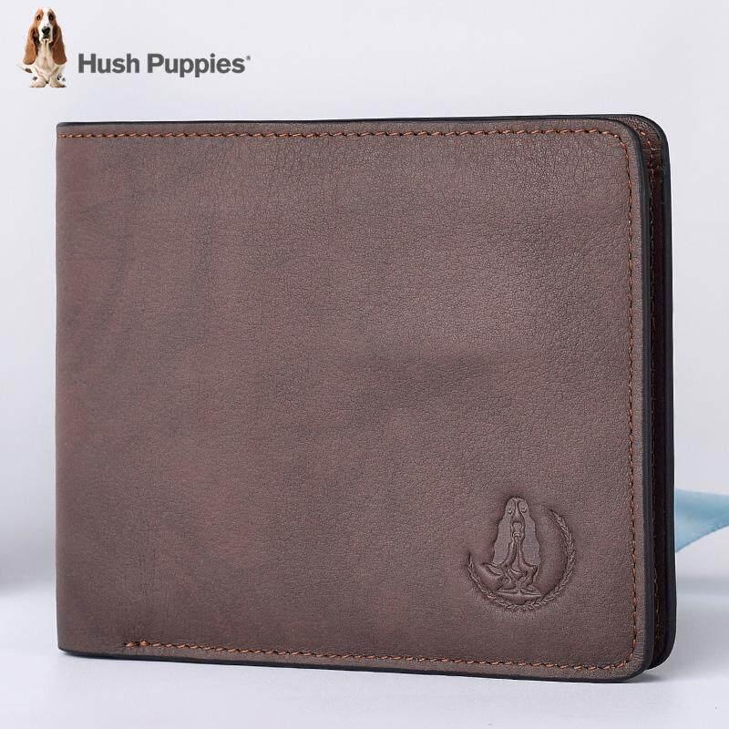 Amerika Serikat Hush Puppies pria model pendek Kulit asli dompet anak muda  fashion populer Model silang 8c90d96a91