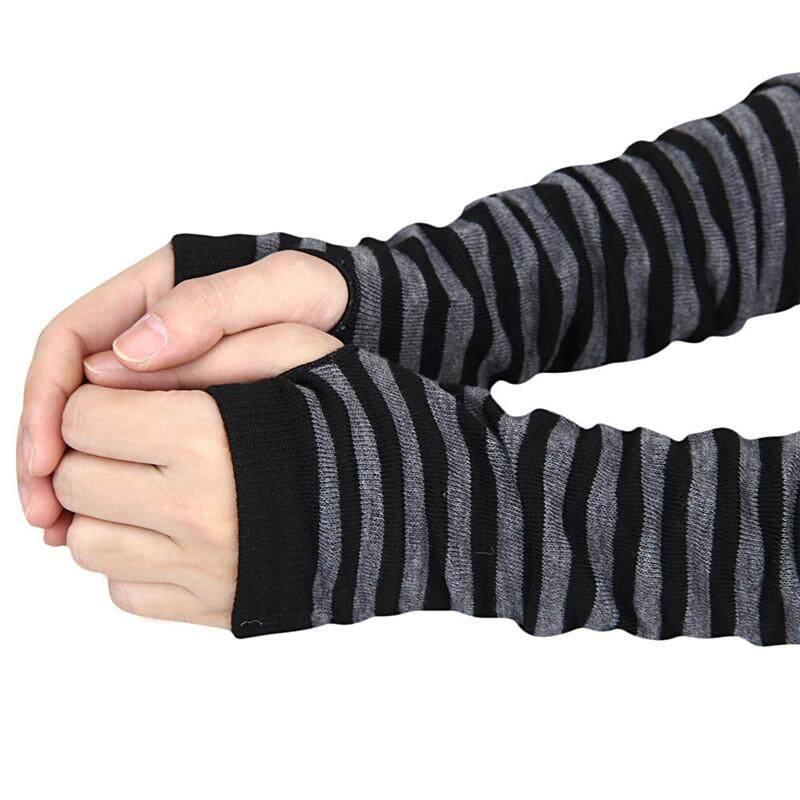 Hitam & PUTIH 1 Pair Pria & Wanita Musim Dingin Pergelangan Tangan Lengan .