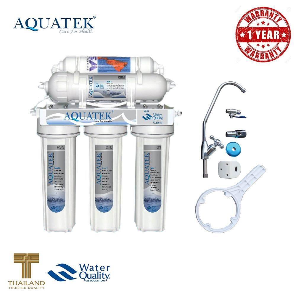 ราคา Aquatek Usa เครื่องกรองน้ำ 5 ขั้นตอน รุ่น Ceramic Filter รับประกัน 1 ปี ไทย