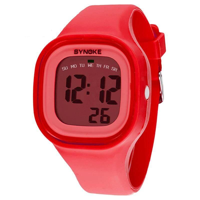 SYNOKE Brand Watch Sport Women Men Stop Timer LED Black Light Digital Wrist Watches 30M Waterproof
