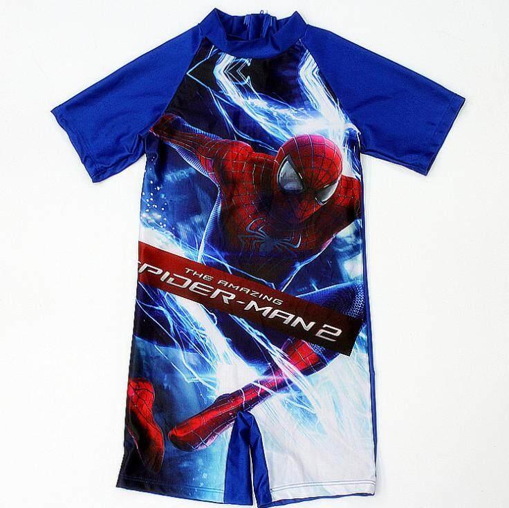 ชุดว่ายน้ำ ชุดว่ายน้ำเด็ก ชุดว่ายน้ำเด็กผู้ชาย ชุดว่ายน้ำ 1 ชิ้น Swimming Suit ลายการ์ตูน The Amazing Spider-Man 2.