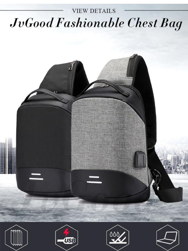 Shoulder Chest Cross Body Backpack Messenger Sling Casual Anti-Theft Bag