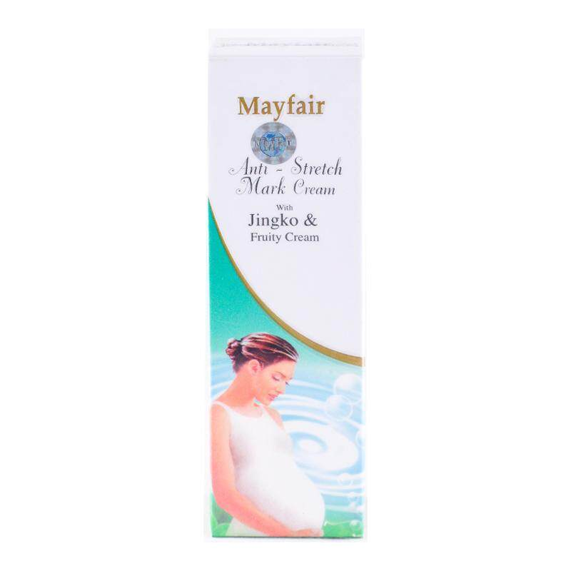 Mayfair Anti-Stretch Mask Cream 100 G.  เมย์แฟร์ ครีมทาแก้ท้องลาย แก้ผิวแตกลาย ข้อศอกด้าน .