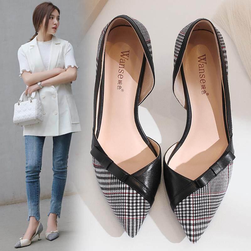 Sepatu Heels Korea Fashion Style Wanita Kitten Heel