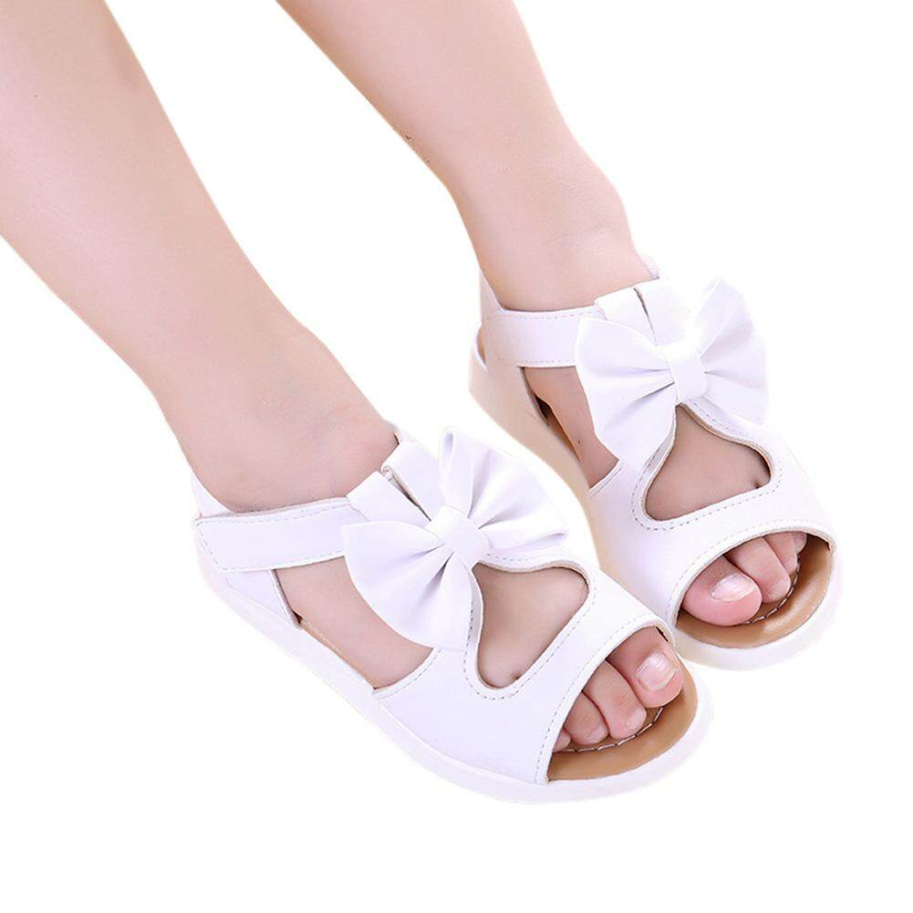 Girl Sandals Princess Shoes Bow Hollow Beach Shoes Anti-Slip Baby Sandals By Limin Fashion.
