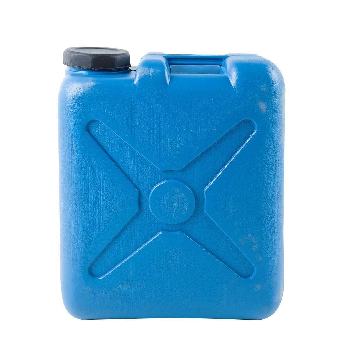 Bd&p Shop ถังใส่น้ำมัน ถังแกลลอนพลาสติก 20 ลิตร ขนาด 34.5x17x43ซม.สีฟ้า.
