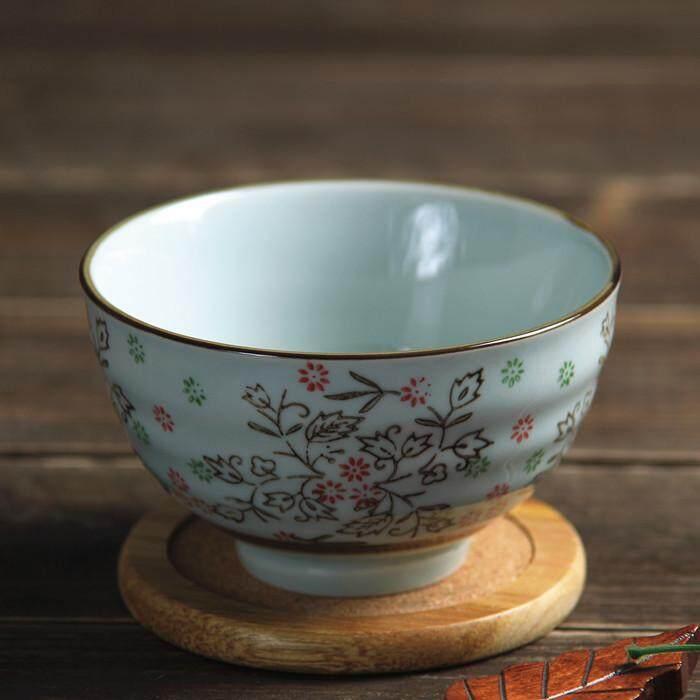 Detail Gambar Hefengsiji Hiasan berwarna model Jepang kreatif Peralatan makan Mangkok nasi Makanan penutup Mangkuk keramik 4.5 inci Motif baut Mangkuk nasi ...