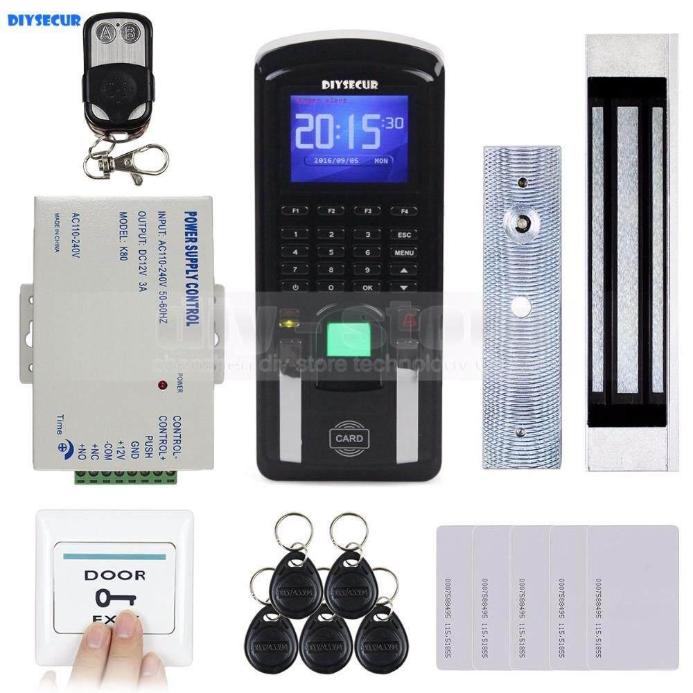 DIYSECUR TCP/IP USB Fingerprint ID Card Reader Password Keypad Door Access Control System + Power + Magnetic Lock Kit - intl