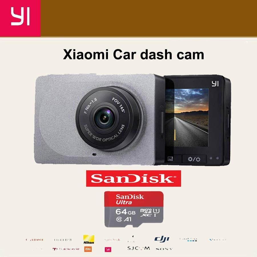 Xiaomi Yi Car Dash Cam 1080p Camera wiFi DVR กล้องติดรถยนต์ Car camera (เมนูภาษาอังกฤษ)-Gray  Action cam