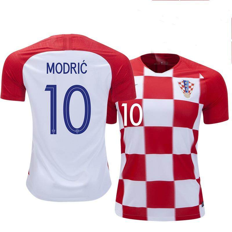 54d57b630 Top Quality Modric No.10 Croatia 2018 National Team Home and Away Football  Jersey Soccer