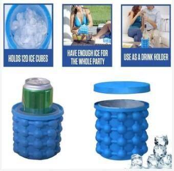 ที่ทำน้ำแข็งก้อนกลม แม่พิมพ์ทำน้ำแข็งก้อน Ice Cube Maker Ice Genie Kitchen Tools Creative Space Saving Big.